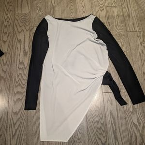 Black and White top by Zara